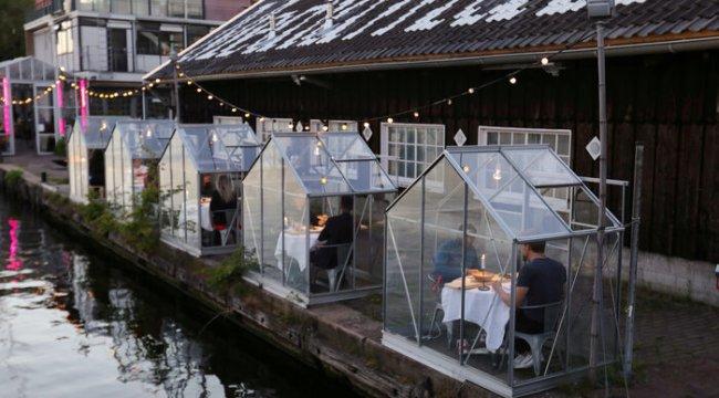 İşte yeni normal: Kabin restoran!