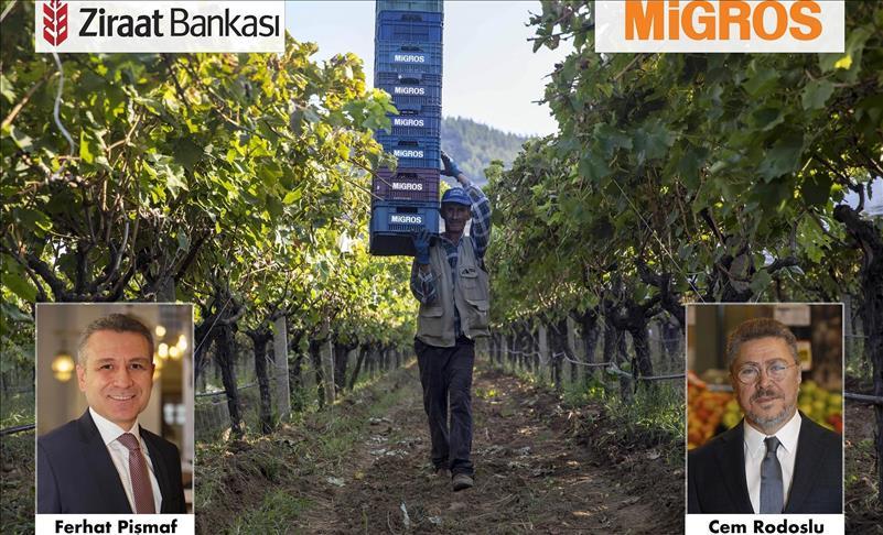 """Ziraat Bankası ve Migros'tan çiftçiler için """"Üretici Finansman Sistemi"""""""