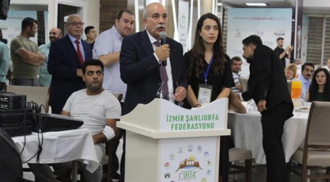 (Foto Galerili Haber) İzmir Şanlıurfa Federasyonu'nda Mızraklı güven tazeledi